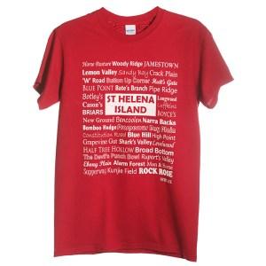 Cardinal red mens St Helena t-shirt Bencoolen design