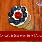 Yogurt and Berries in a Cone