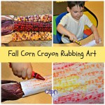 Fall Corn Crayon Rubbing Art