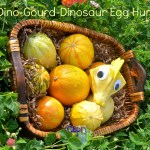 Dino-Gourd Dinosaur Egg Hunt #playfulpreschool