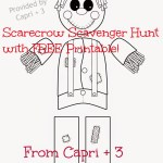 Scarecrow Hunt with FREE Printable