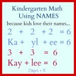 Fun Kindergarten Math Activities Using Their Names