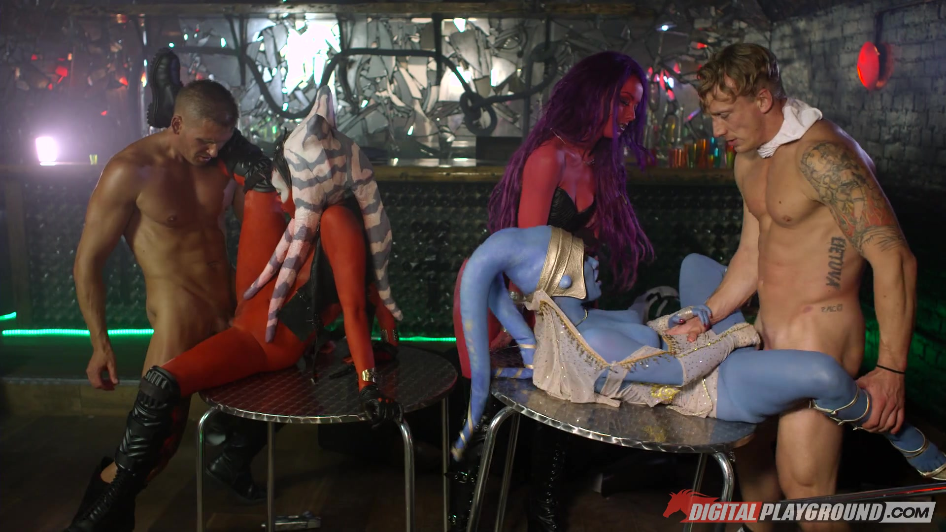 Three Babes in Body Paint and Two Guys Get It On Length: 26 min