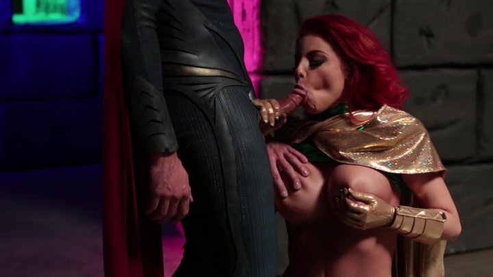 Superman Gets a Seriously Persuasive Blowjob Starring: Britney Amber Ryan Driller