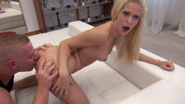 Sexy Blonde Gets Fucked and Sucks His Big Cock Starring: Candee Licious