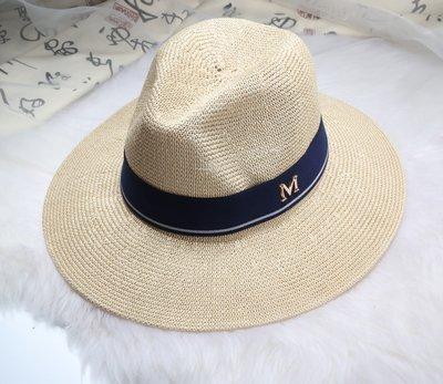 New Maison Michel Straw Hats Wide Brim M Letter Summer Hat Women Chapeu Jazz Trilby Bowler Summer Hats For Women 14