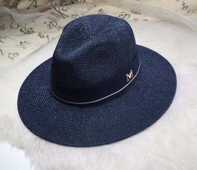 New Maison Michel Straw Hats Wide Brim M Letter Summer Hat Women Chapeu Jazz Trilby Bowler Summer Hats For Women 22