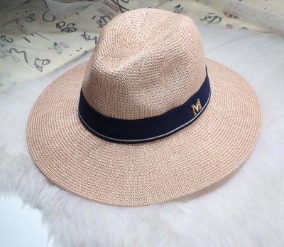 New Maison Michel Straw Hats Wide Brim M Letter Summer Hat Women Chapeu Jazz Trilby Bowler Summer Hats For Women 12