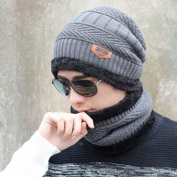 new knitted hat fashion Beanies Knit Men's Winter Hat Caps Skullies Bonnet  For Men Women Beanie Casual Warm Baggy Bouncy 4