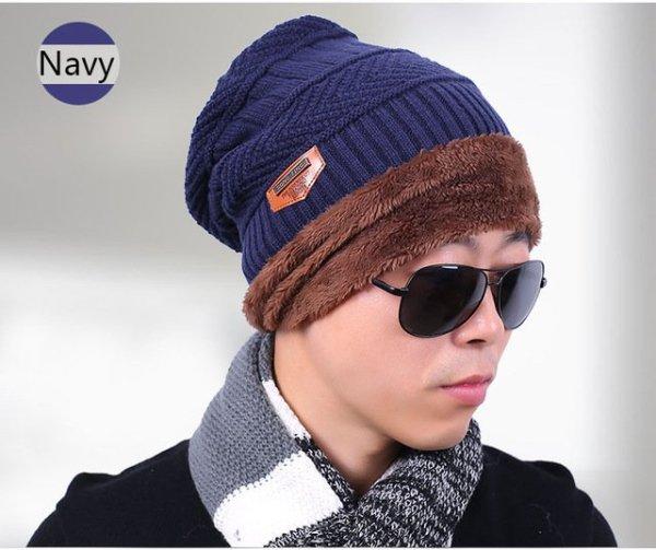 new knitted hat fashion Beanies Knit Men's Winter Hat Caps Skullies Bonnet  For Men Women Beanie Casual Warm Baggy Bouncy 24