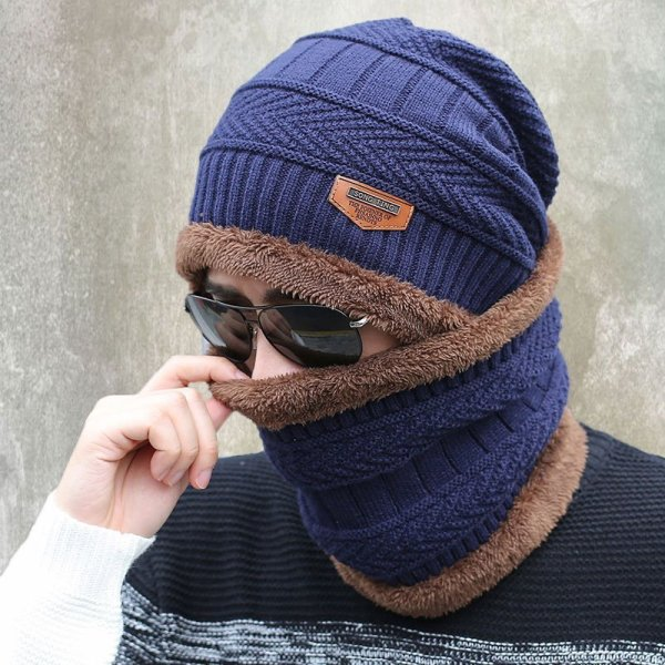 new knitted hat fashion Beanies Knit Men's Winter Hat Caps Skullies Bonnet  For Men Women Beanie Casual Warm Baggy Bouncy 2