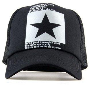 New Five-pointed Big Star Pattern Mesh Baseball cap 11