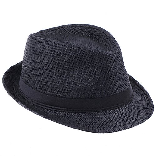 Fashion Handwork Women Summer straw Sun hat Boho Beach Fedora hat Sunhat  Trilby Men Panama Hat Gangster Cap Good Pack 25 53d37508af79