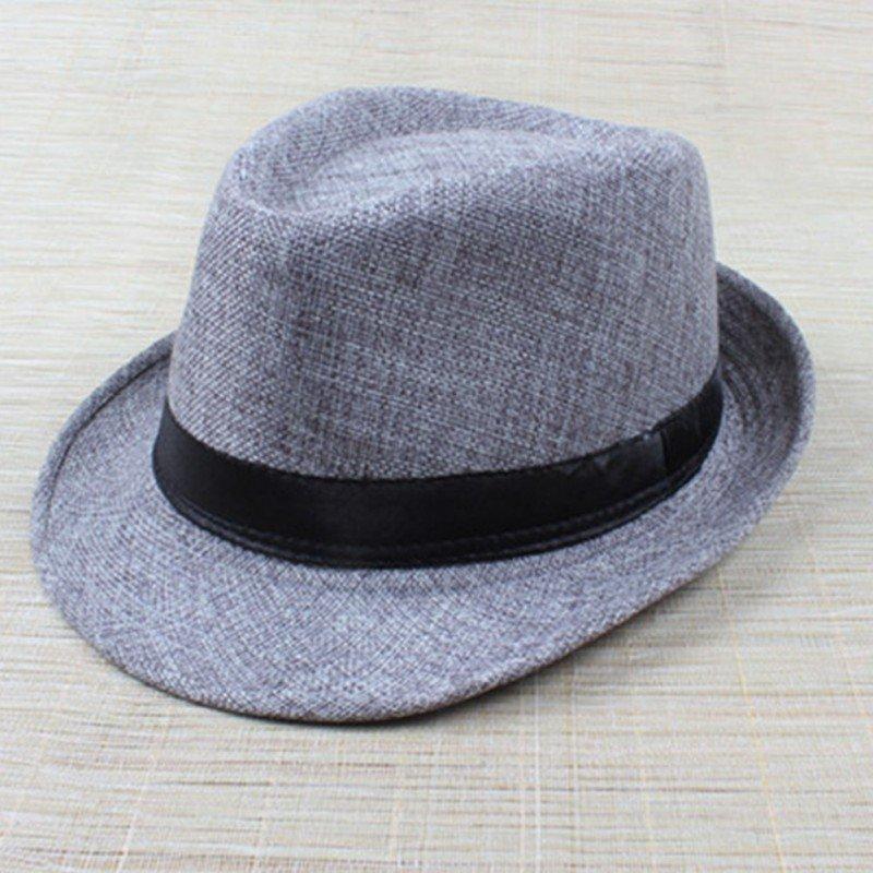 Hot Unisex Hat Women Hat Men Gangster Summer Beach Cap Hard Felt Fedora  Trilby Panama Jazz Gangster Hats 09e7f9b262d8