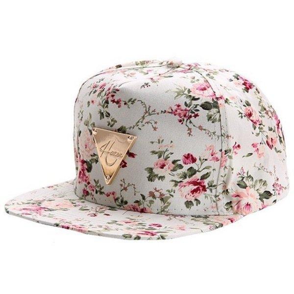 Men Women Baseball Cap Hip Hop Caps Floral Style 16