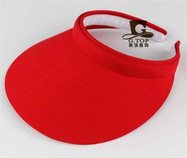 Unisex  Clip-On Visor sun Hat Summer Cotton topless sports golf cap 3