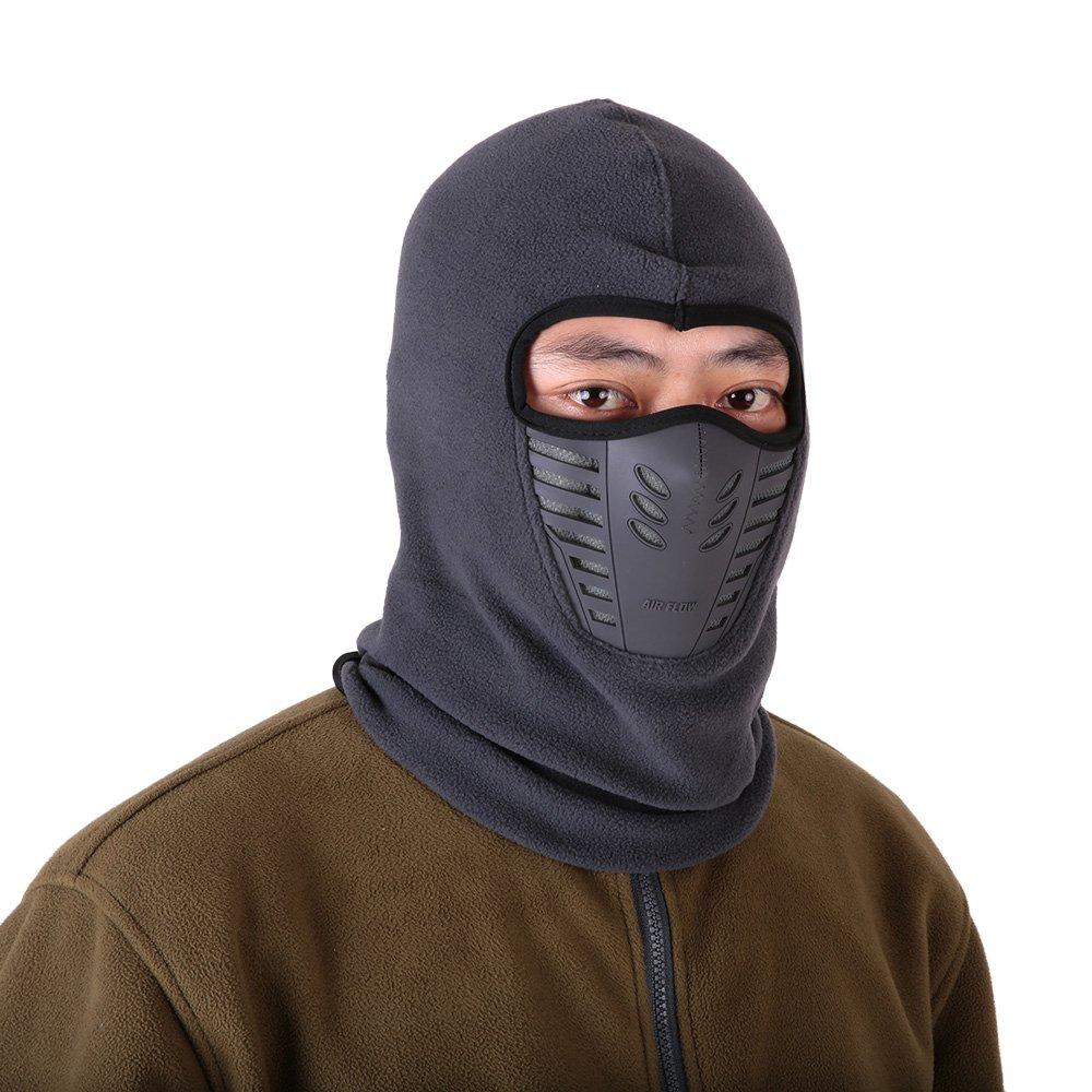 Winter Fleece Warm Hat Motorcycle Windproof Face Mask Hat Neck Helmet  Beanies Unisex Bicycle Thermal Fleece Balaclava Hat be537ca3c52
