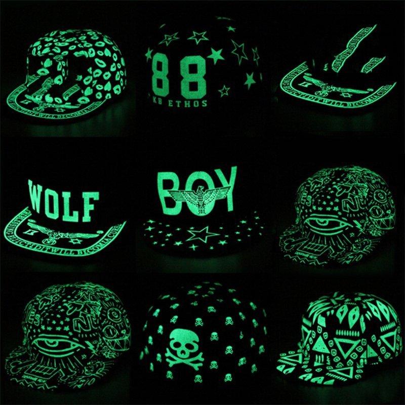 673f5ca7462bf Baseball Cap Hip Hop Fluorescent Light Snapback Caps - Luminous Hat ...