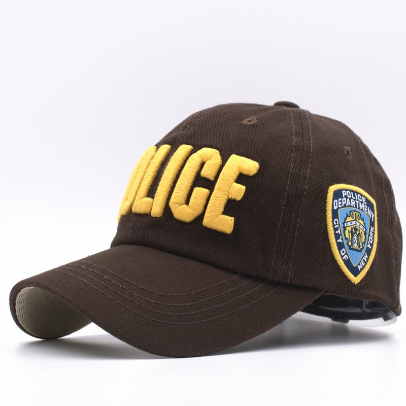 323dce8b0 11 Colors Kids High Quality Cotton Police Baseball Caps for Boys ...