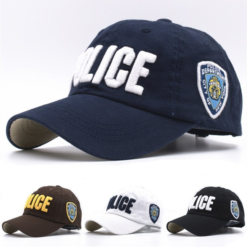 d9ffd6945f2 11 Colors Kids High Quality Cotton Police Baseball Caps for Boys ...