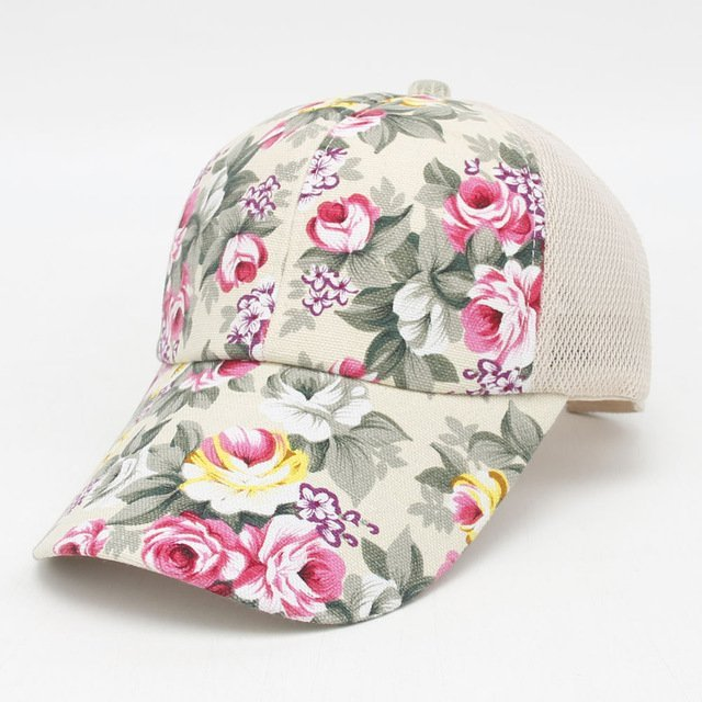2016 hot sale female floral baseball hat for women spring and summer casual  cap girls sun snapback hats for sport l leisure f7589c3a6f4e
