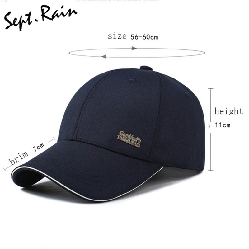 dfe31fc9758 2017 Mens Spring Adjustable Cotton Fitted Baseball Caps Male Simple Black  Formal Snapback Dad Hat Fashion ...