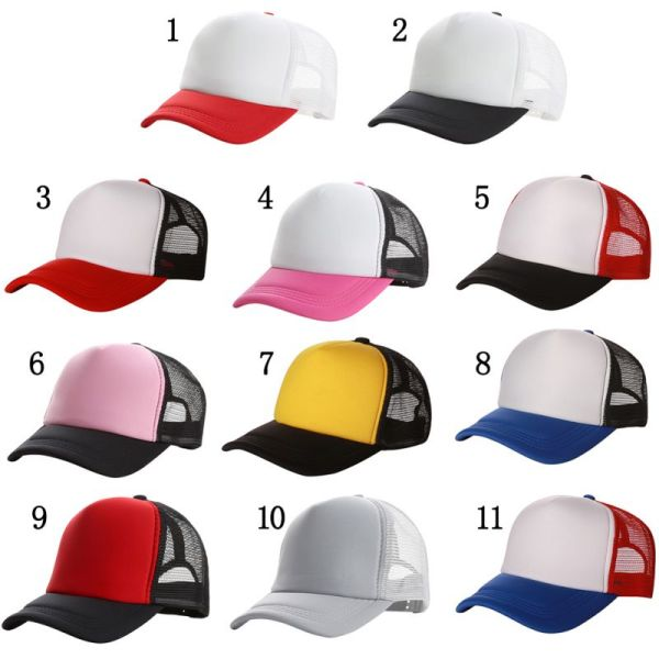 Top Sell mesh Snapback Hats Women Baseball Caps Sun Hats Quick-Drying Breathable Caps 12