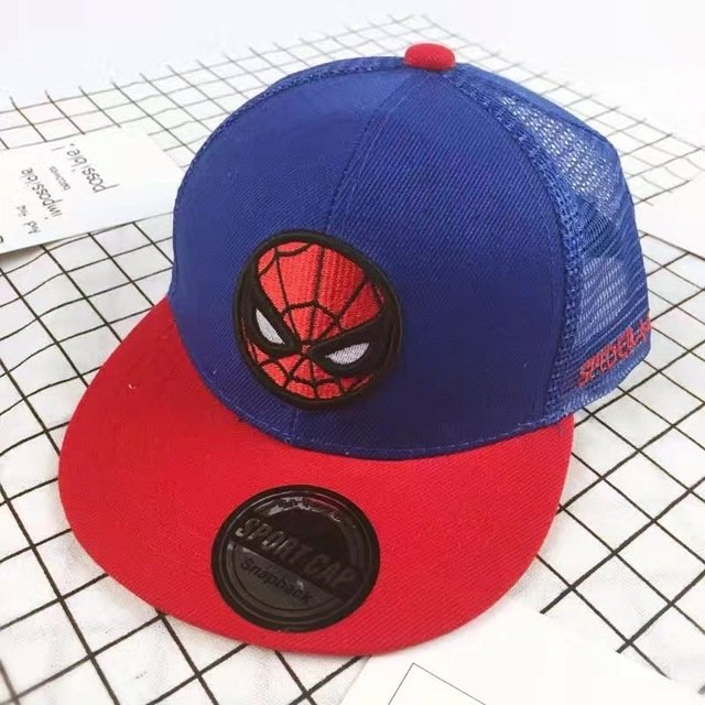 2018 New Kids Baseball Caps Fashion Superman Batman Children Snapback Caps  Gorras Planas Boys Hip Hop Hat Mesh Summer ... fcb49ad1f8a
