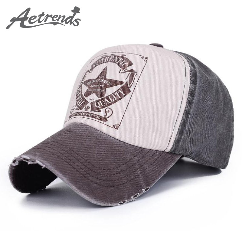 AETRENDS  6 Colors ! Star Patchwork Baseball Cap Men or Women Polo ... 52c16aaad724