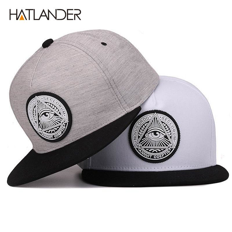 Classic 5 panels cotton snapback 3d god eyes plastic patch mens flat brim  baseball cap hip hop hat ... e08afc985efb