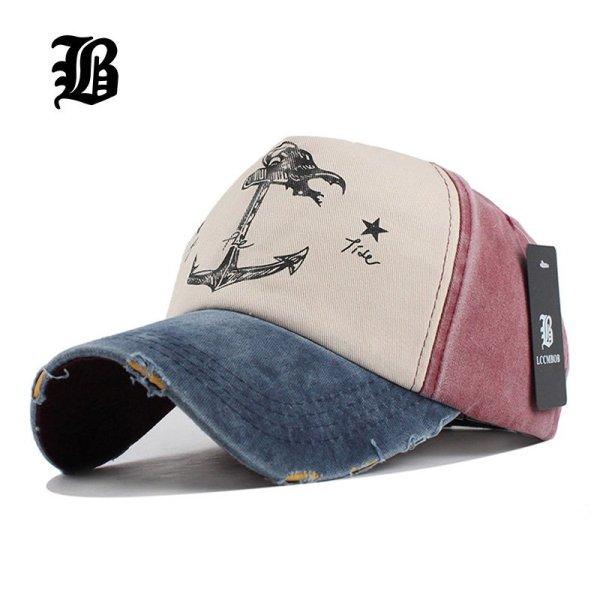 [FLB] 5 panel hip hop snapback hats couples hat Man Woman pure cotton baseball caps do old pirate ship anchor gorras wash cap 1