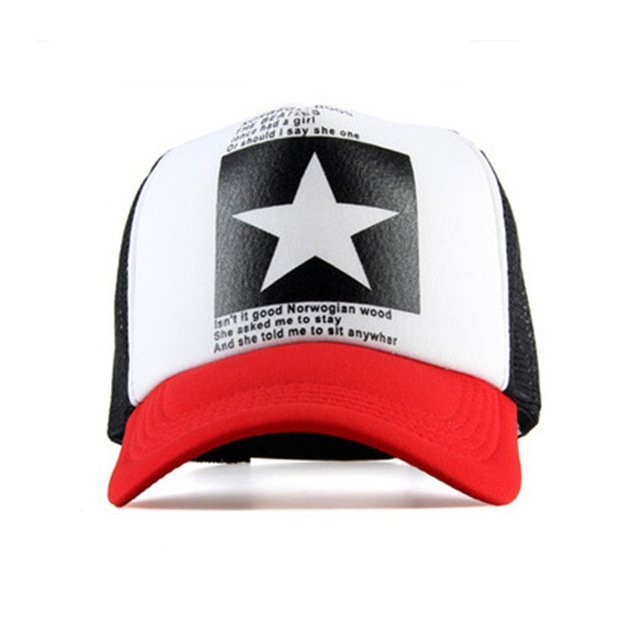 8c927de9 Geebro 2018 Summer Star Snapback Baseball Cap Men Sunshade Mesh Net ...
