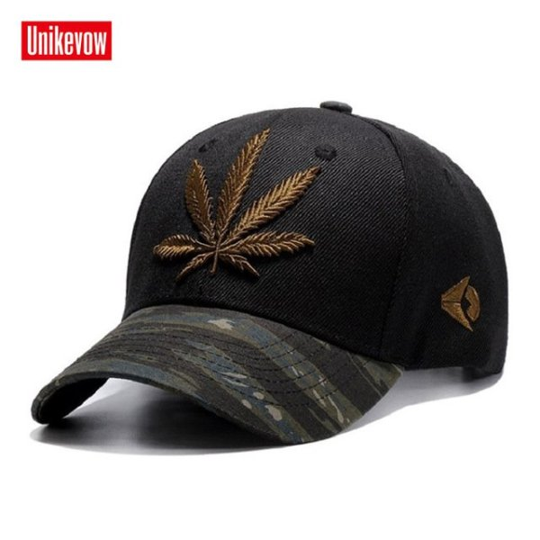 High quality Baseball Cap Unisex Sports leisure hats leaf embroidery sport cap for men and women hip hop hats 14
