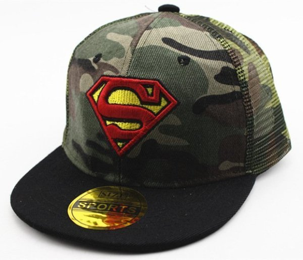 Hot Sale Children Cartoon Colorful  Superman Batman Adjustable Kids Baseball Snapback Cap  Unisex  Hip Hop Hats 10