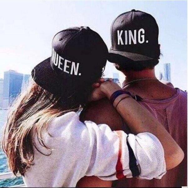 Hot Sale KING QUEEN Embroidery Snapback Hat Acrylic Men Women Couple Baseball Cap Gifts Fashion Hip-hop Caps 4