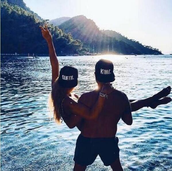 Hot Sale KING QUEEN Embroidery Snapback Hat Acrylic Men Women Couple Baseball Cap Gifts Fashion Hip-hop Caps 6