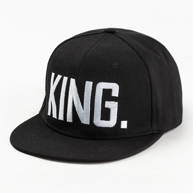 1c330256741 Hot Sale KING QUEEN Embroidery Snapback Hat Acrylic Men Women Couple  Baseball Cap Gifts Fashion Hip-hop Caps
