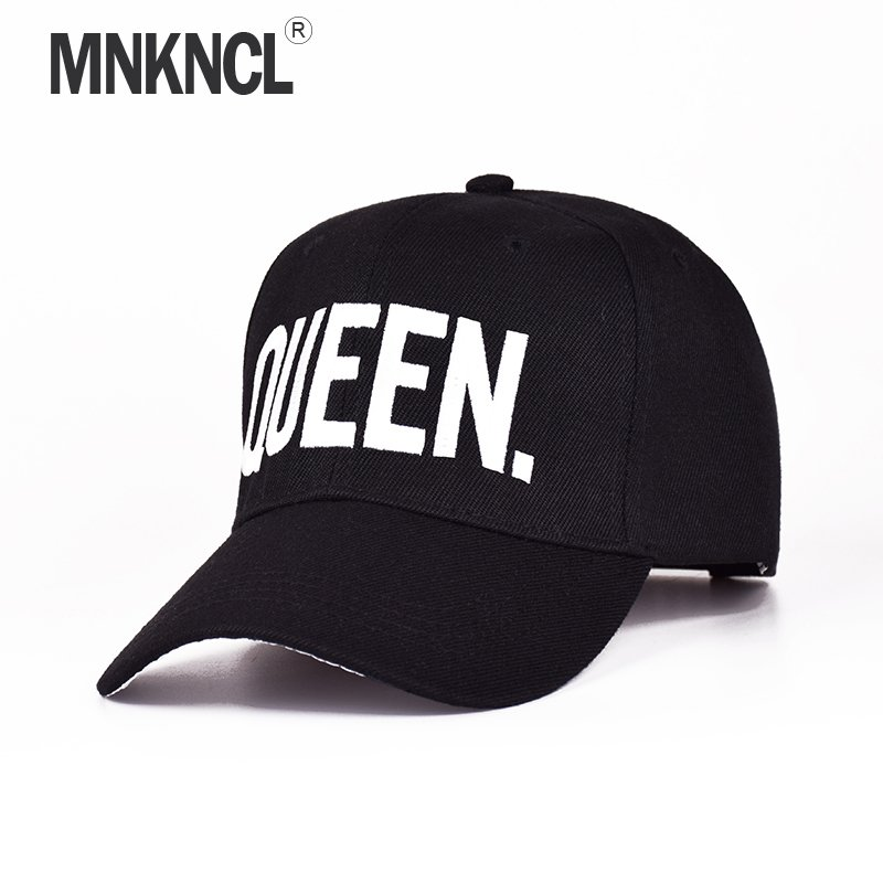 e080c1e3c39 MNKNCL Hot Selling King Queen Letter Embroidery Baseball Cap Couples Hip  Hop Snapback ...