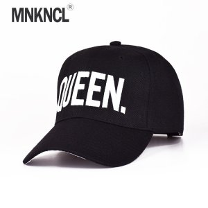 4163e201327 ... MNKNCL Hot Selling King Queen Letter Embroidery Baseball Cap Couples Hip  Hop Snapback Cap for Man Hat Women bone aba reta gorr ...