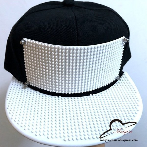 Mosaics Custom LOGO Brick baseball cap Building toy customize blocks ... 99cefd2fdcfb
