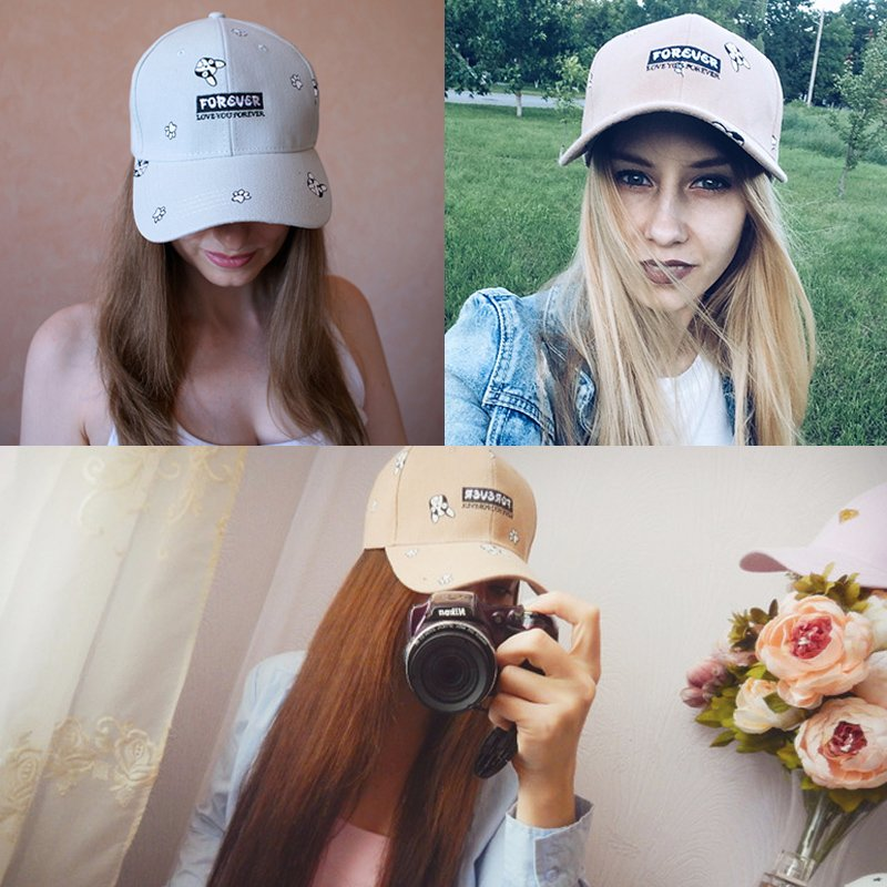 summer baseball cap women 2018 dog pattern cute snapback