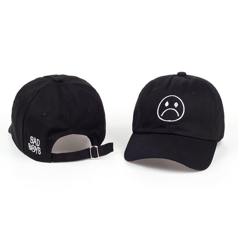 aa9a3625a4f TUNICA Sad Boys Adjustable Hat crying face Baseball cap Hip hop ...