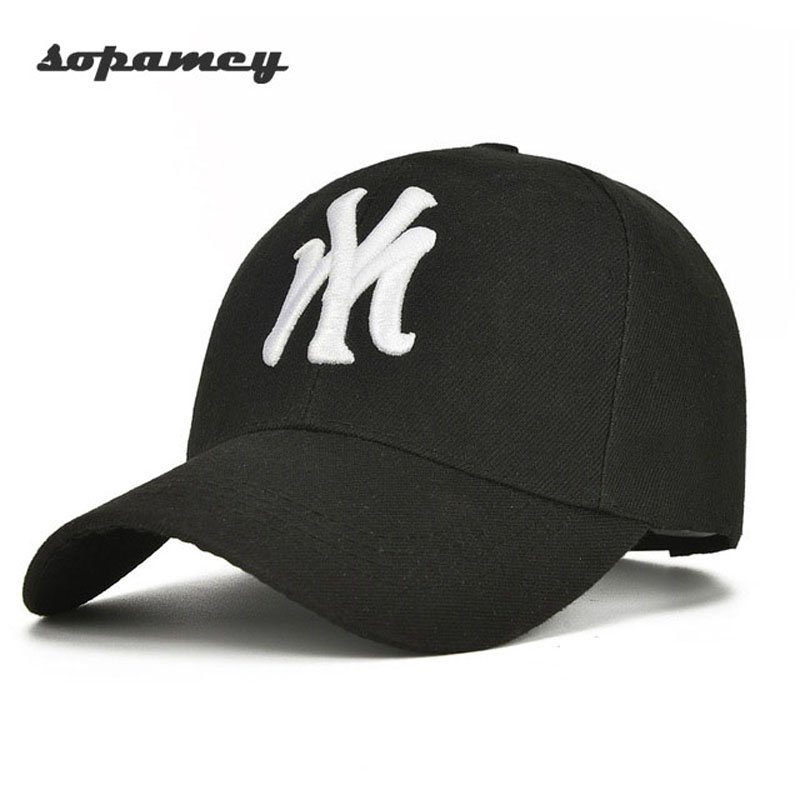 Unisex Cotton Baseball Cap NY Men Women Snapback Cool Sun Hat Letter  Adjustable Casquette Bone Cap Male ... e39648e42a5c