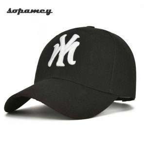 bc295828c9a ... Unisex Cotton Baseball Cap NY Men Women Snapback Cool Sun Hat Letter  Adjustable Casquette Bone Cap Male Sport Bone Gorras Cap ...