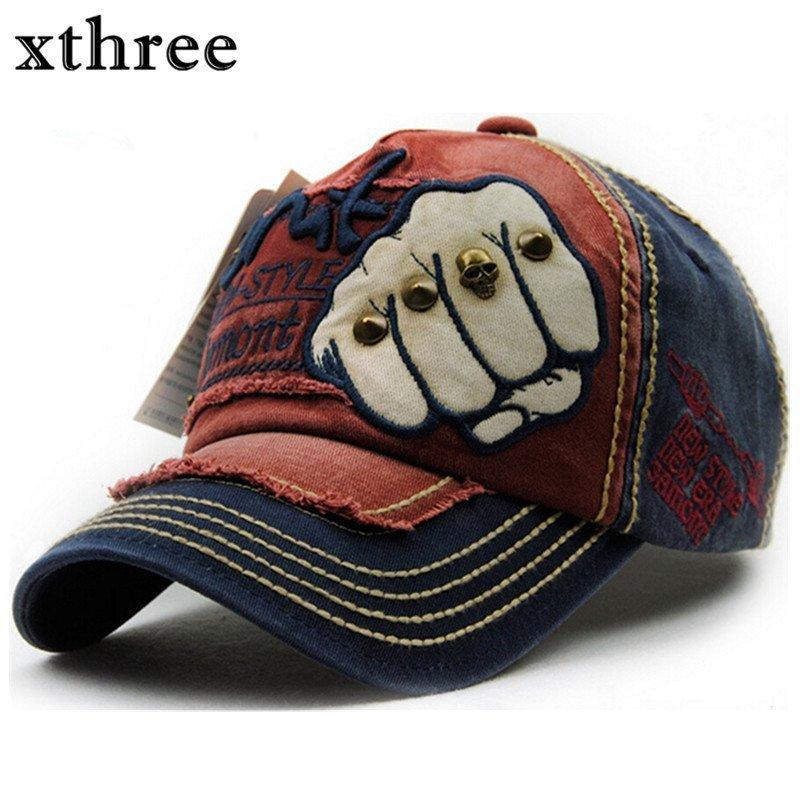 1200f8df5b3 XTHREE unisex fashion men s Baseball Cap women snapback hat Cotton Casual  ...