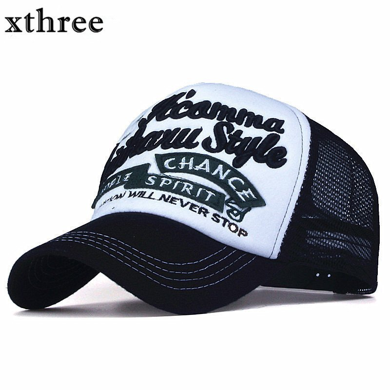 3a114abaa1a Xthree New 5 panels embroidery summer baseball cap casual mush cap men  snapback hat for women casquette gorras