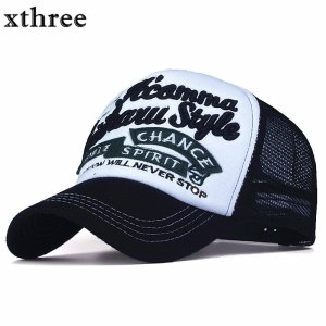 892fdc02422cb ... Xthree New 5 panels embroidery summer baseball cap casual mush cap men  snapback hat for women casquette gorras ...