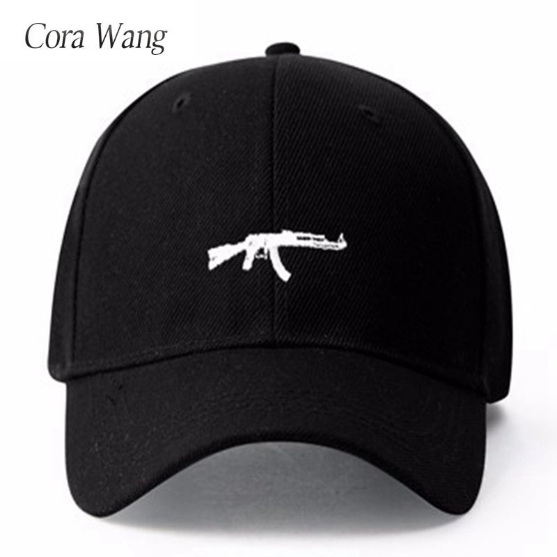 Gun Baseball Cap US Fashion Mens Dad Snapback Hip Hop Cap Curve Visor Sun hat