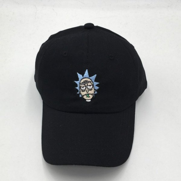 which in shower cotton embroidery Rick and Morty cap cartoon Rick Smoking dad hats for women men hip hop snapback baseball caps 6