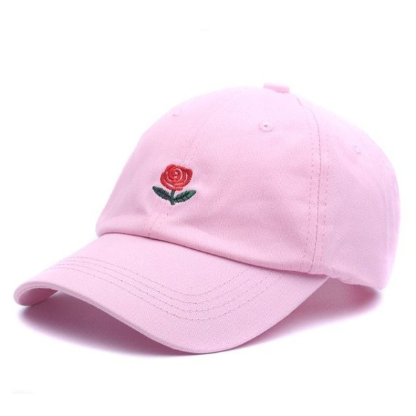 100% Cotton Rose embroidery hat black cap Blank snapback hip hop dad cap designer hats men women Visor hat skateboard gorra bone 10